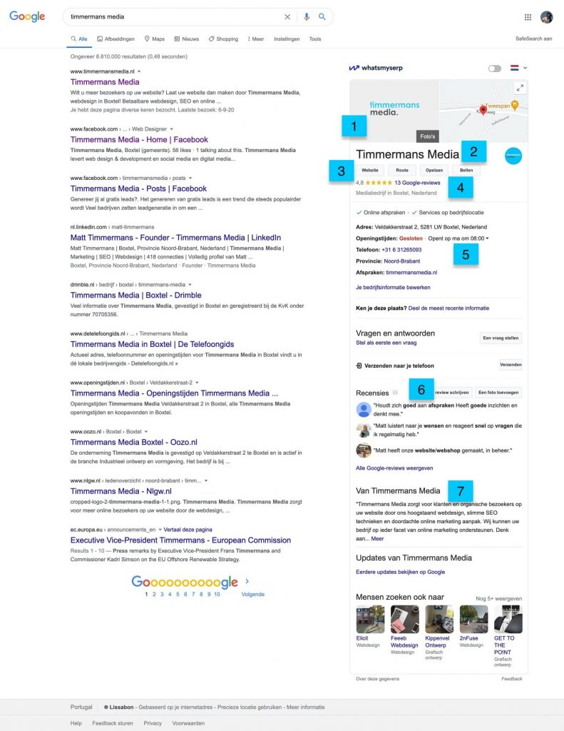 google mybusiness belangrijk