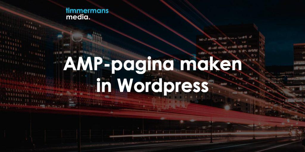 amp pagina maken wordpress
