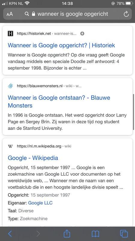 AMP resultaat in Google