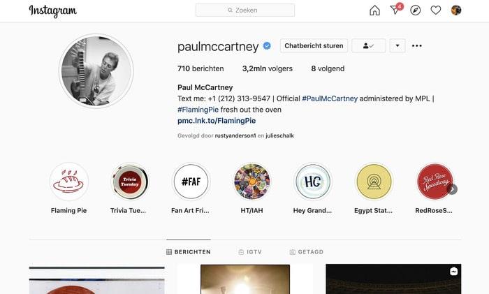 Instagram interactie met volgers