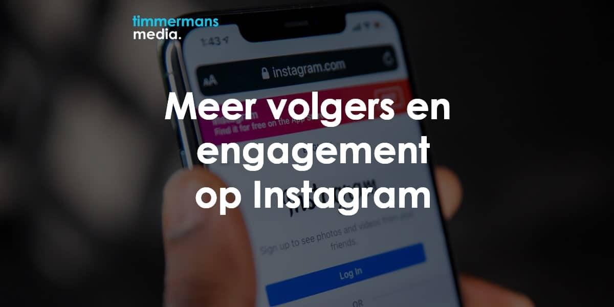 meer volgers op instagram bedrijf