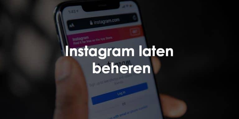 instagram laten beheren