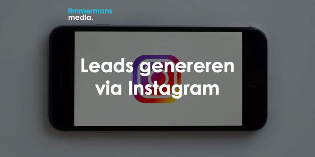 leads genereren via instagram
