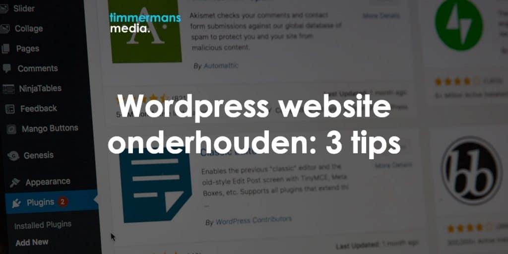 wordpress website onderhouden